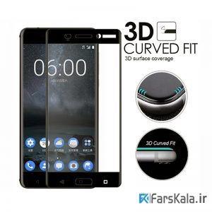 محافظ صفحه نمایش شیشه ای با پوشش کامل صفحه نمایش 3D Glass برای گوشی Nokia 3