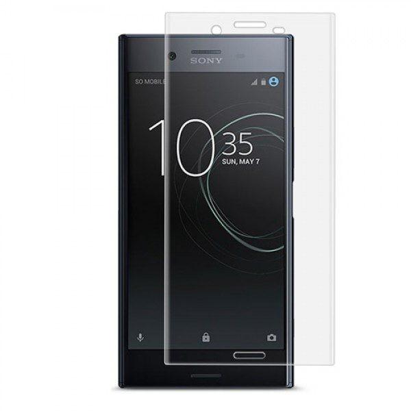 محافظ صفحه نمایش شیشه ای با پوشش کامل شفاف برای Sony Xperia XZ Premium