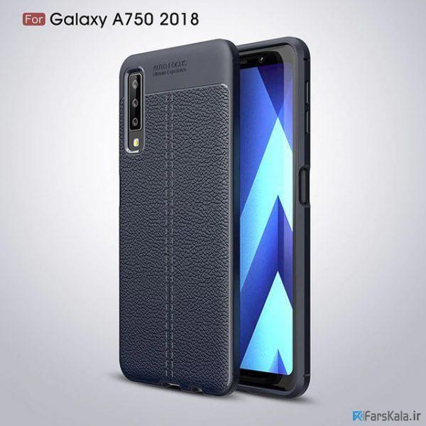 قاب ژله ای طرح چرم Auto focus Samsung Galaxy A7 2018