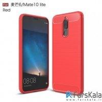 قاب محافظ ژله ای هوآوی Carbon Fibre Case Huawei Mate 10 Lite