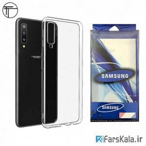 قاب محافظ شیشه ای ژله ای Samsung Galaxy A7 2018 Transparent Cover