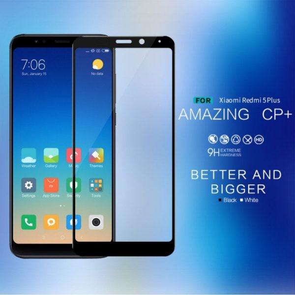 محافظ صفحه نمایش شیشه ای نیلکین Nillkin Amazing CP+ tempered glass Xiaomi Redmi 5 Plus (Xiaomi Redmi Note 5)