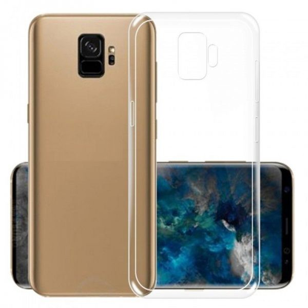قاب محافظ شیشه ای ژله ای Galaxy S9