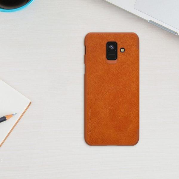 کیف چرمی نیلکین Qin Case Samsung Galaxy A6 2018