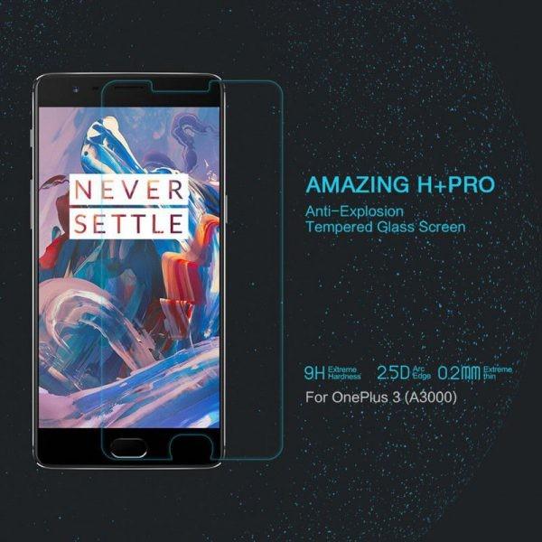 محافظ صفحه نمایش نیلکین H+ Glass Oneplus 3T