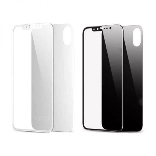 محافظ صفحه نمایش شیشه ای پشت و رو بیسوس آیفون Baseus Glass Film Set Apple iPhone X