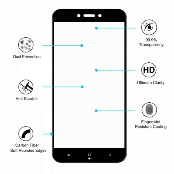 محافظ صفحه نمایش تمام چسب با پوشش کامل Glass Xiaomi Redmi 5A