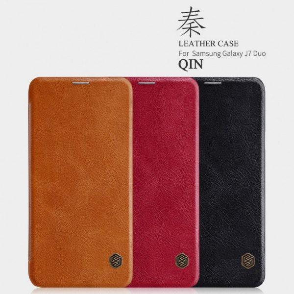 کیف چرمی نیلکین Qin Case Samsung Galaxy J7 Duo