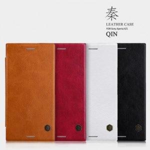 کیف چرمی نیلکین Qin Case Sony Xperia XZ1