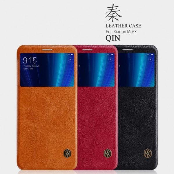 کیف چرمی نیلکین Qin Case Xiaomi Mi 6X