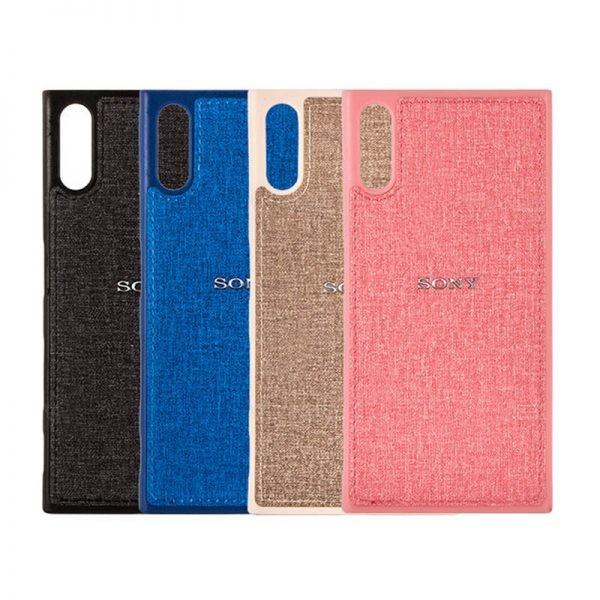 قاب محافظ طرح پارچه ای Protective Cover Sony Xperia XZ