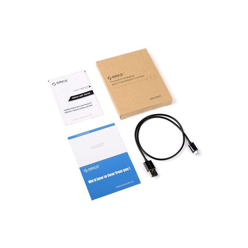 کابل میکرو یو اس بی سریع Orico 3A Micro USB Cable ADC-15 1.5m