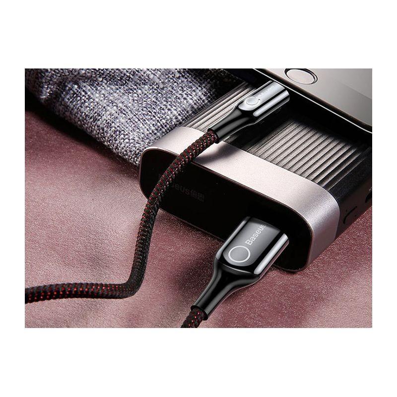 کابل لایتنینگ هوشمند Baseus C-shaped Lightning Cable
