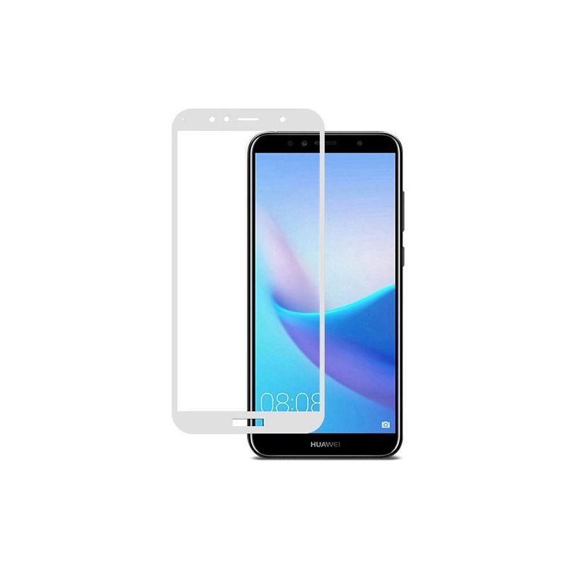 گلس تمام چسب با پوشش کامل Huawei Y6 2018