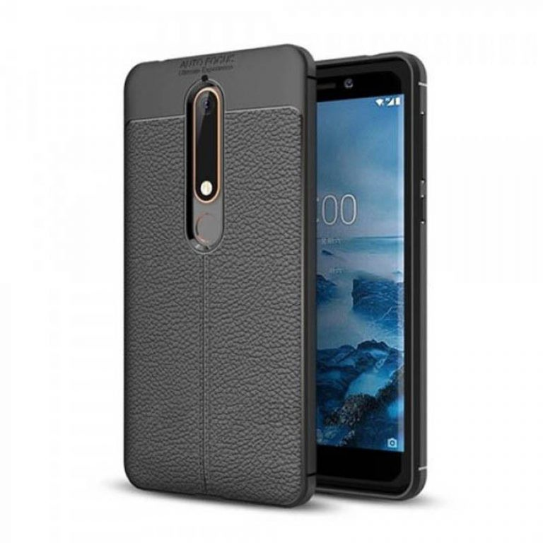 قاب ژله ای طرح چرم Auto Focus Jelly Case Nokia 6 2018