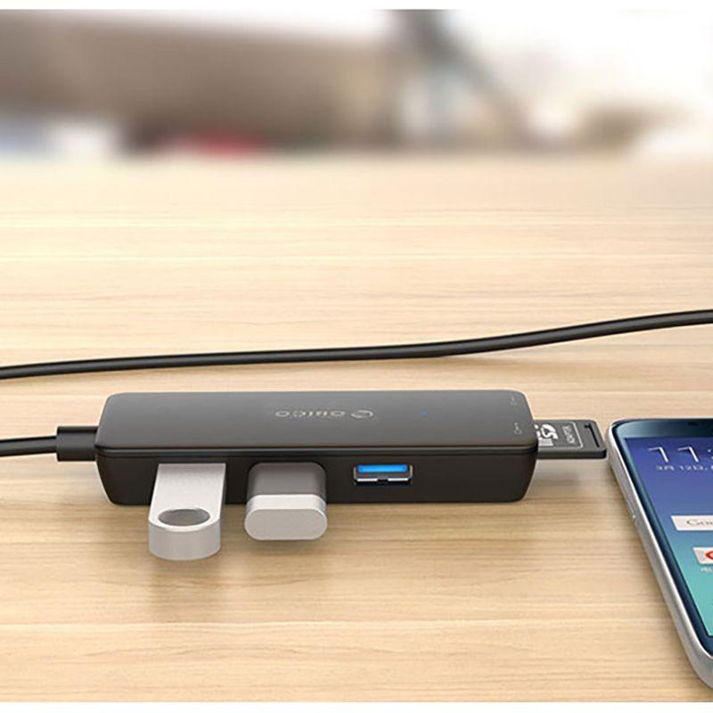 هاب Orico USB3.0 HUB with Card Reader H3TS-U3