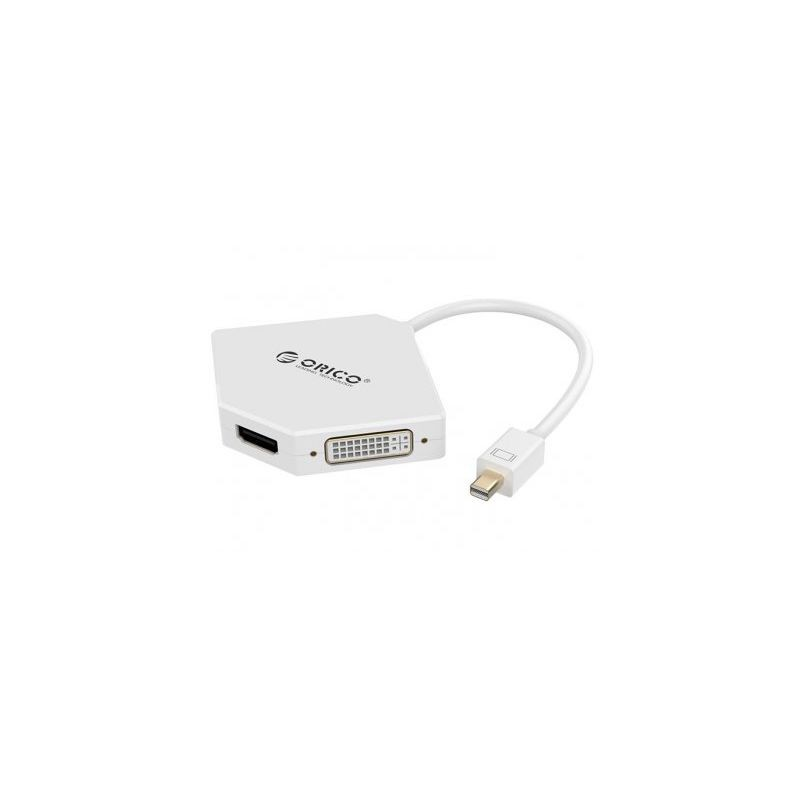 مبدل Orico Mini Display Port to HDMI DVI VGA Adapter DMP-HDV3