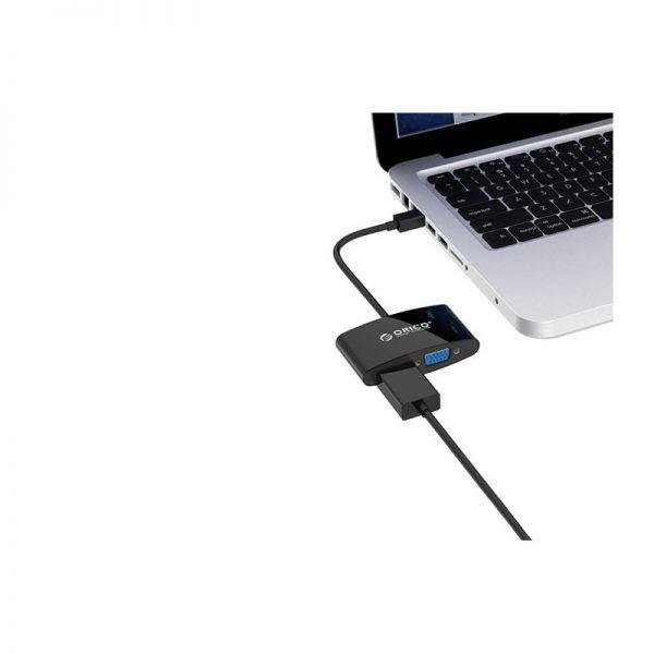 مبدل Orico Mini DisplayPort to HDMI VGA Adapter DMP-HV2