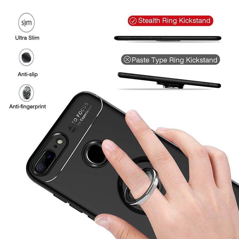محافظ ژله ای Magnetic Ring Case Huawei Honor 9 Lite