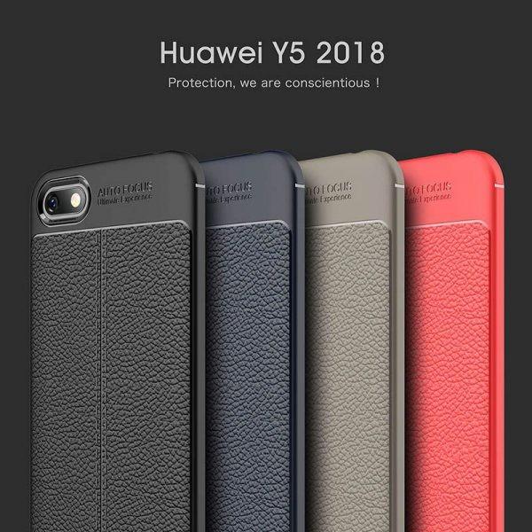 قاب ژله ای طرح چرم Auto Focus Huawei Y5 Prime 2018