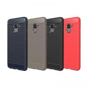محافظ ژله ای Carbon Fibre Case Samsung Galaxy A8 2018