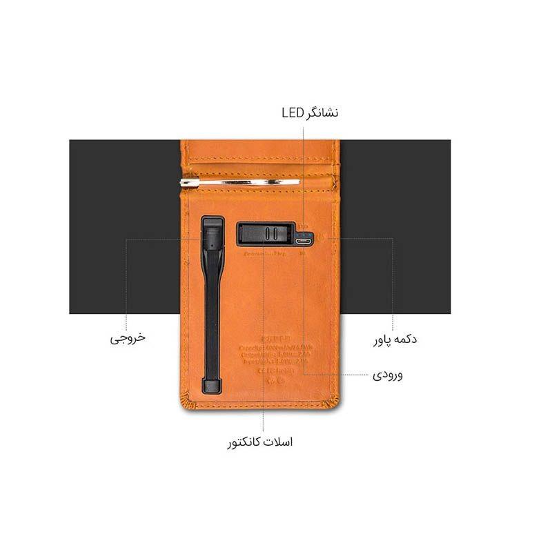 کیف چرمی و پاوربانک Zhuse Blade ZS-PB-023