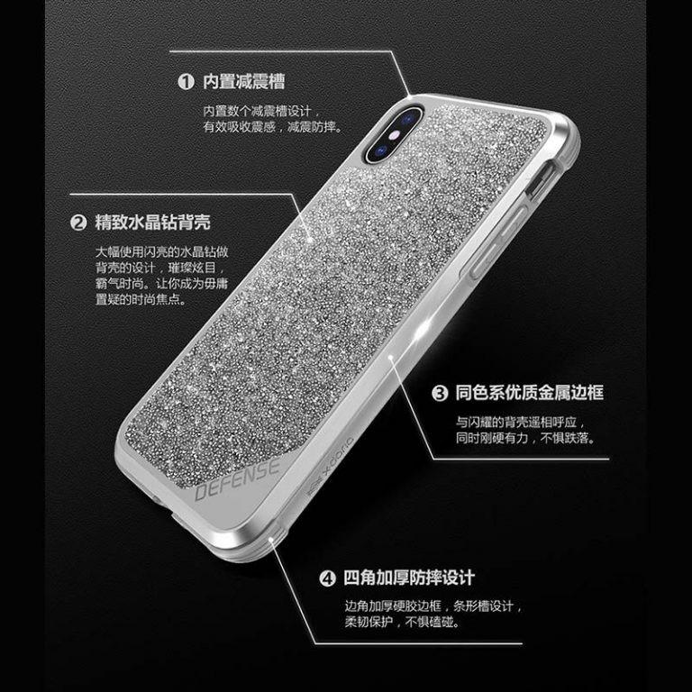 قاب x-doria defense crystal Apple iPhone X