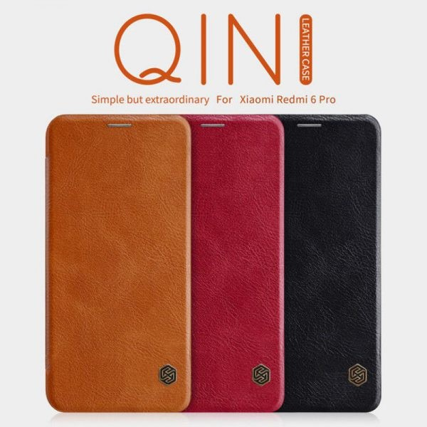 کیف چرمی نیلکین Qin Case Xiaomi Mi A2 Lite