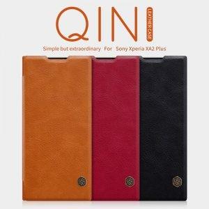 کیف چرمی نیلکین Qin Case Sony Xperia XA2 Plus