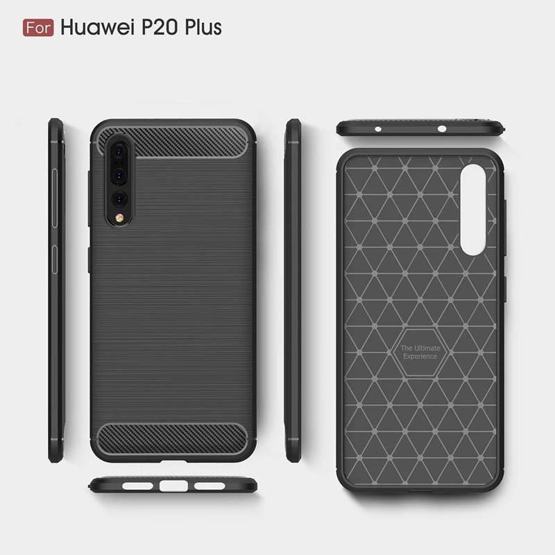 قاب محافظ ژله ای هوآوی Carbon Fibre Case Huawei P20 Pro