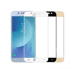 محافظ صفحه نمایش شیشه ای با پوشش کامل Glass Full Cover Samsung Galaxy J3 Pro 2017