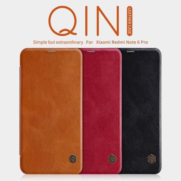 کیف چرمی نیلکین Qin Case Xiaomi Redmi Note 6 Pro