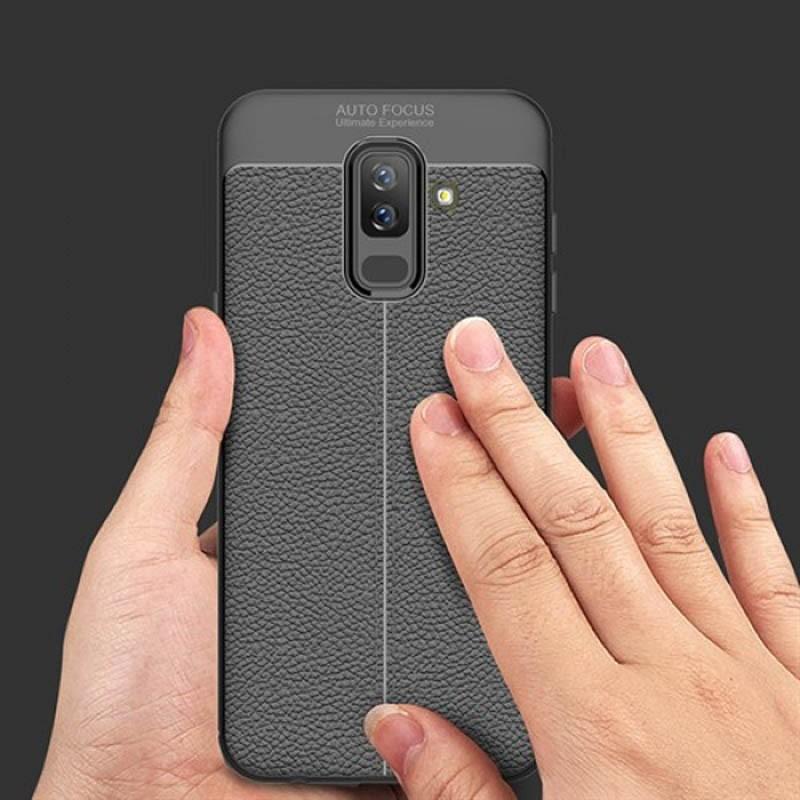 قاب ژله ای طرح چرم Auto Focus Jelly Case Samsung Galaxy J8 2018