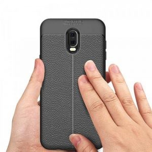 قاب ژله ای طرح چرم Auto Focus Jelly Case Samsung Galaxy C8 / J7 Plus