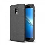 قاب ژله ای طرح چرم Auto Focus Jelly Case Samsung Galaxy C8 / J7 Plus