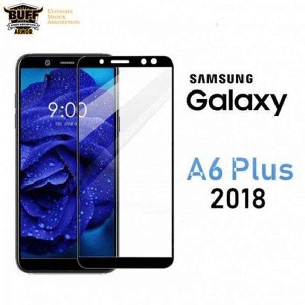 گلس فول چسب بوف Full BUFF Glass Samsung Galaxy A6 plus 2018