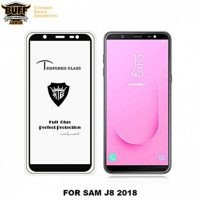 گلس فول چسب بوف Full BUFF Glass Samsung Galaxy J8 2018