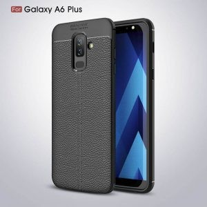 قاب ژله ای طرح چرم Auto Focus Jelly Case Samsung Galaxy A6 Plus 2018