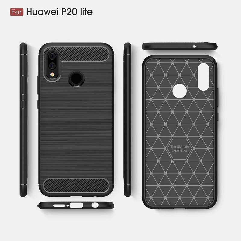 قاب محافظ ژله ای هوآوی Carbon Fibre Case Huawei P20 Lite