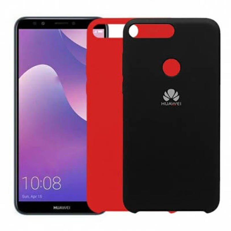 قاب محافظ رنگی سیلیکونی Silicone Cover Huawei Y7 Prime 2018