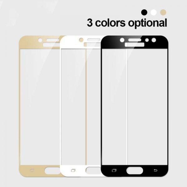 محافظ صفحه نمایش شیشه ای با پوشش کامل Glass Full Cover Samsung Galaxy J7 Pro/J7 2017