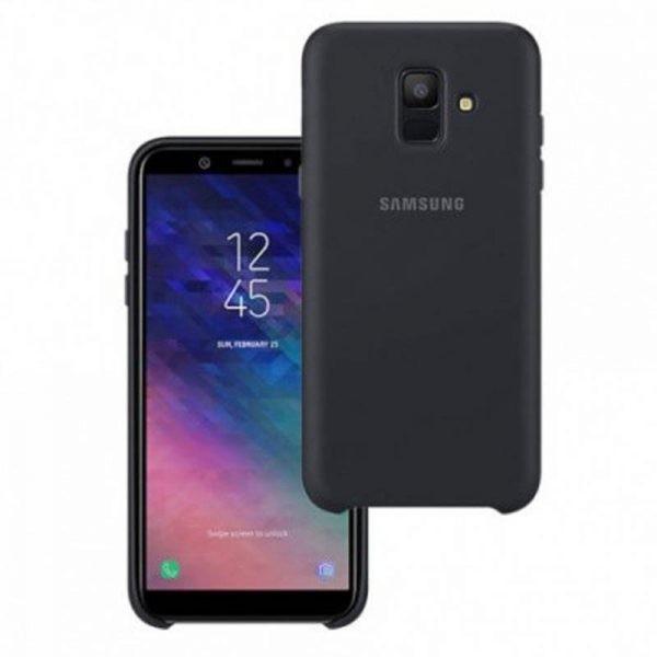 قاب محافظ رنگی سیلیکونی Silicone Cover Samsung Galaxy A6 2018