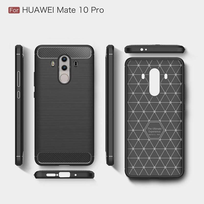 قاب محافظ ژله ای هوآوی Carbon Fibre Case Huawei Mate 10 Pro