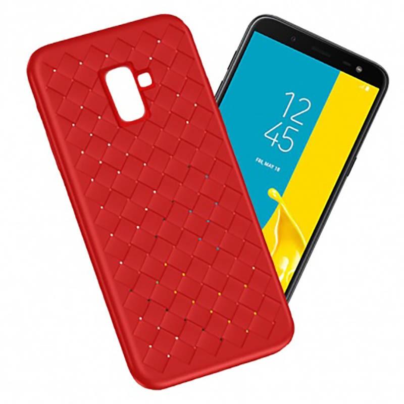 مدل گوشی j6 سامسونگ قاب ژله ای طرح چرم حصیری Samsung Galaxy J6 2018