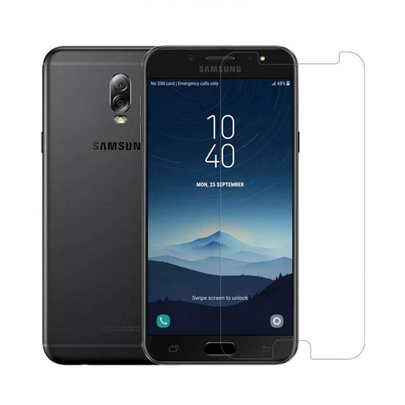 محافظ صفحه نمایش شیشه ای Samsung Galaxy C8/J7 Plus
