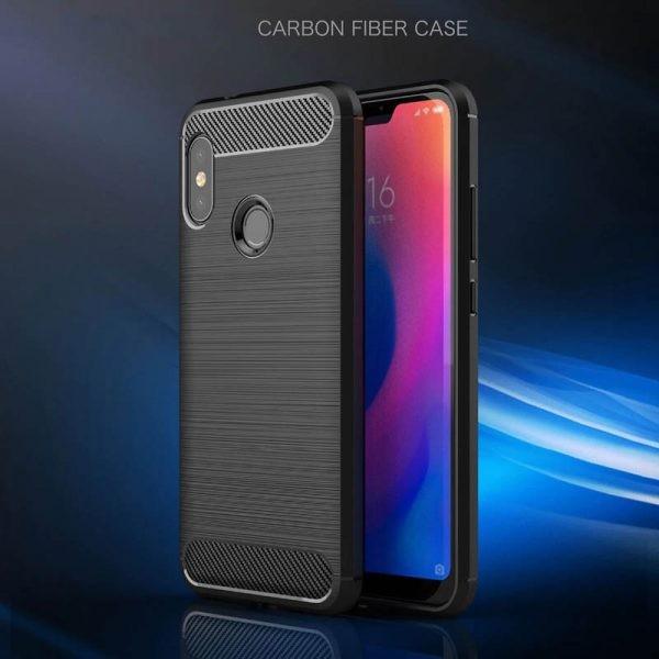 قاب محافظ ژله ای شیائومی Carbon Fibre Case Xiaomi Mi A2 Lite / Redmi 6 Pro