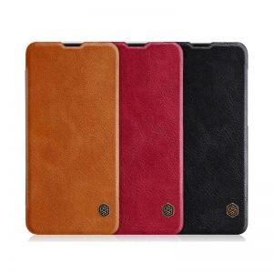 کیف چرمی نیلکین وان پلاس Nillkin Qin Leather Case Oneplus 6T