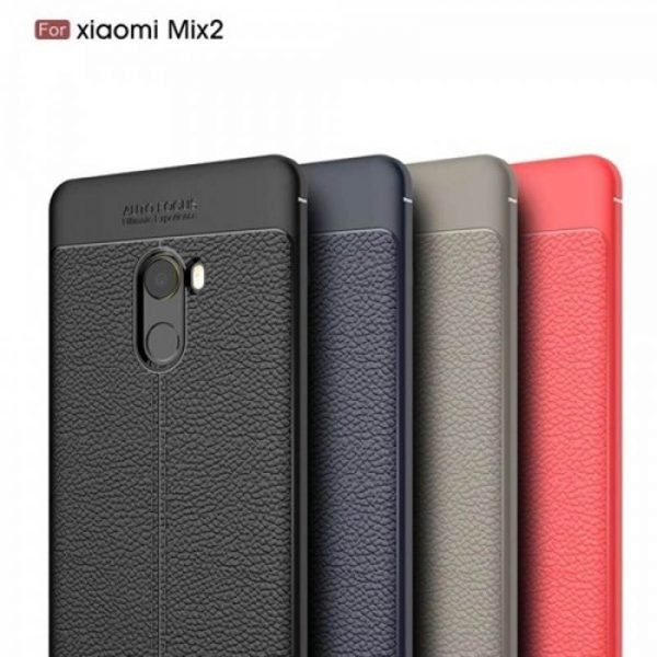 قاب ژله ای طرح چرم Auto Focus Jelly Case Xiaomi Mi Mix 2
