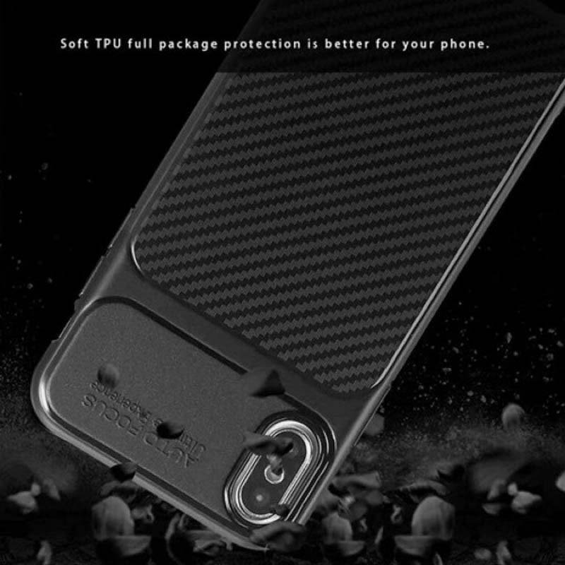 قاب ژله ای طرح چرم فیبر کربنی Auto Focus Jelly Case Xiaomi Redmi 6