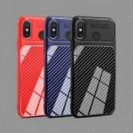 قاب ژله ای طرح چرم فیبر کربنی Auto Focus Jelly Case Xiaomi Mi 8 SE
